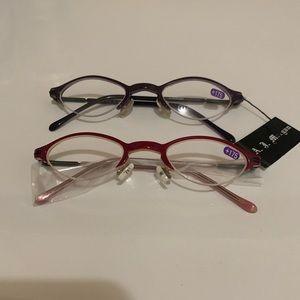 NWT (Set of 2) AJ Morgan Reader Glasses•never worn